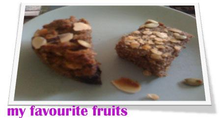 Mrs L sprinkled both in toasted, slivered almonds