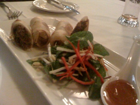 The Wagyu beef spring rolls coaxed us through the door of Cha Cha Char and won favour on the night
