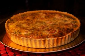 "Hello gorgeous!  The ""perfect the way it was"" (according to Mr L) quiche"