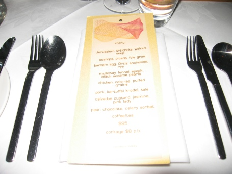 Oscillate Wildly's 8 course degustation menu - well worth the price, and if you have one, the wait