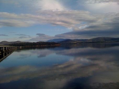 Beautiful, still lake - just outside of Hobart