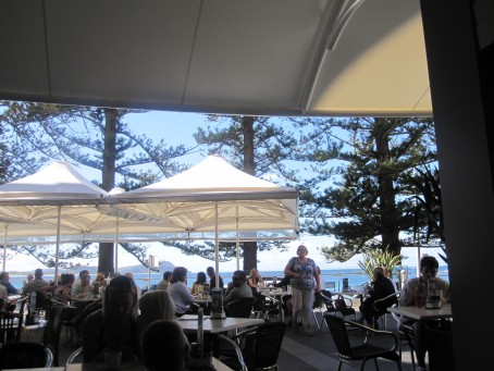 The view from Aromas at Sea, Terrigal