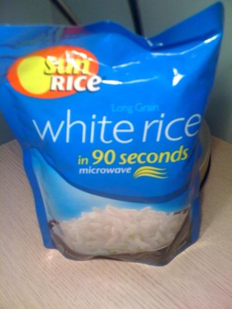I ain't no tree huggin hippie!  White rice