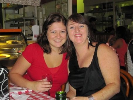 Tines and Jeano - the birthday gals @ South Restaurant