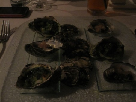 Three of each - oysters @ the Summit Restaurant