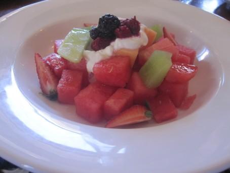 Mr L's fruit salad at Django Django