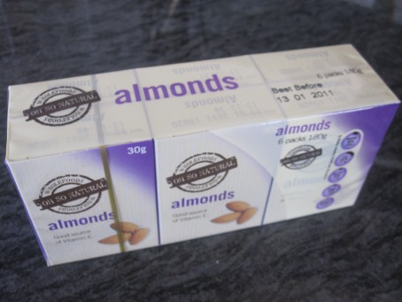 Aldi's Oh So Natural almonds