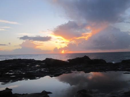 Sun rises over Freshwater beach, Sydney
