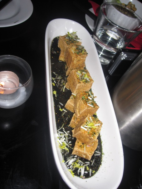 The fried tofu at the fabled dinner
