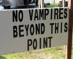 No vampires here!