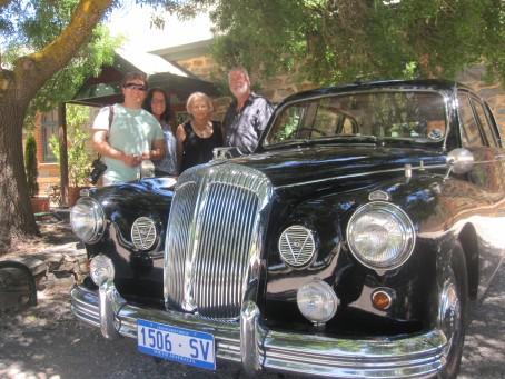 The four of us with John's beautiful 1962 Daimler