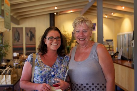 Maggie Beer and me, at her farm shop in the Barossa Valley, South Australia